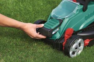 Bosch Rotak 32 LI High Power Cordless Lawn Mower battery pack