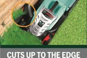 Bosch Rotak 32 LI High Power Cordless Lawn Mower cuts to the edge