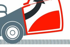 Einhell 3404585 Self Propelled Petrol Lawnmower with a Briggs and Stratton Engine grass direction