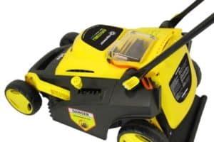 Evopower EVO1536Li Cordless Battery Powered Lawn Mower closer
