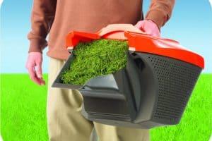 Flymo Chevron 37VC Electric Wheeled Rotary Lawn Mower empty grass box