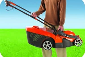 Flymo Chevron 37VC Electric Wheeled Rotary Lawn Mower lightweight