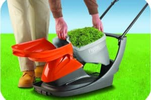 Flymo Easi Glide 300 Electric Hover Lawn Mower empty grass