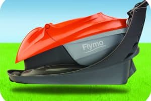 Flymo Easi Glide 300 Electric Hover Lawn Mower folded
