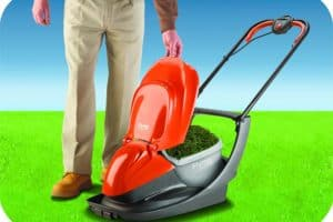 Flymo Easi Glide 300 Electric Hover Lawn Mower lift top