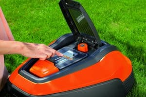 Flymo Lithium-ion Robotic Lawn Mower 1200 R top open