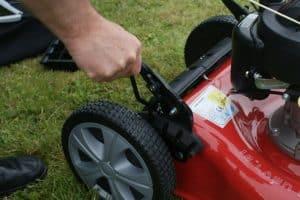 Frisky Fox PLUS 20 5.5hp Self Propelled Petrol Lawn Mower back