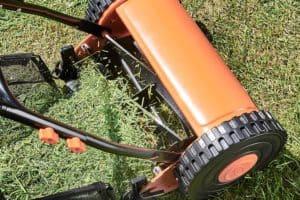 VonHaus Manual Cylinder Lawn Mower cutting action