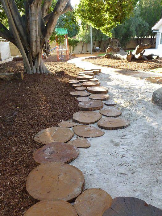 flat logs edging