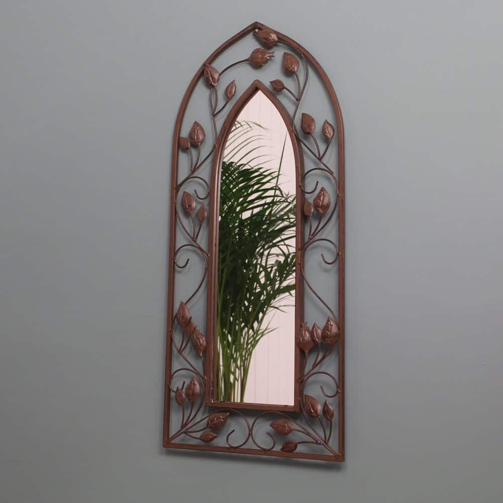 gothic arch garden mirror