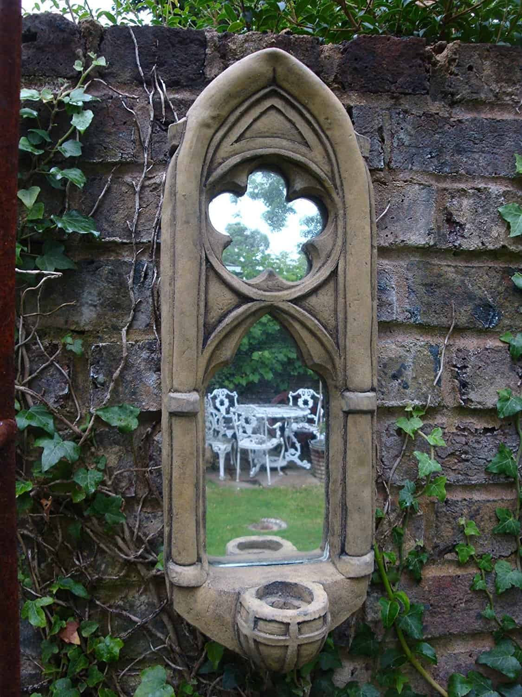 gothic garden mirror
