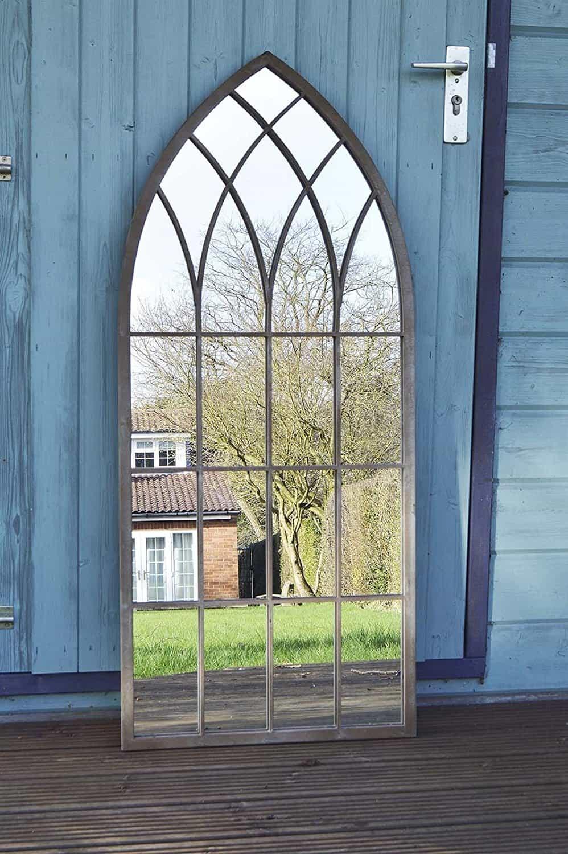 large rustic garden mirror