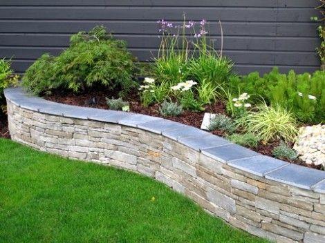 limestone raised bed garden edging ideas