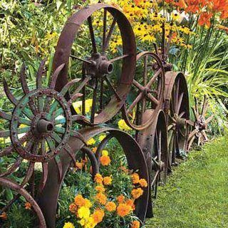 metal wheel edging ideas