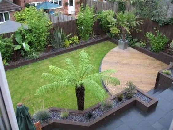 modern decking garden edging ideas