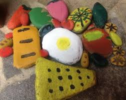 painted-pebble-food