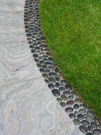 pebble garden edging ideas