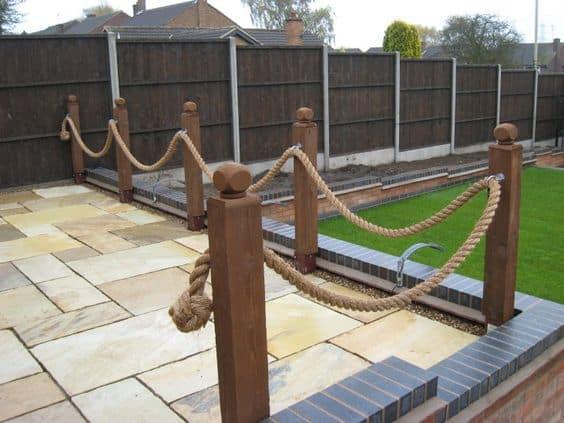 rope garden edging ideas