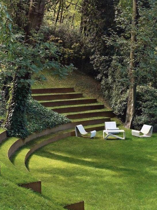 seating garden edging ideas