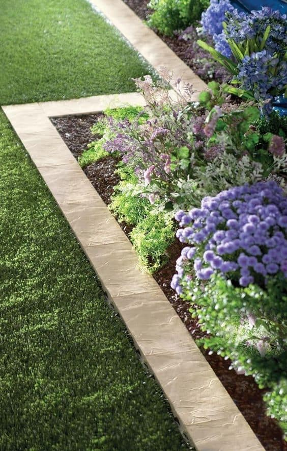 stone border garden edging ideas