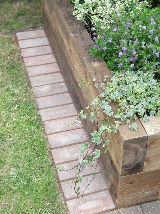 strip of bricks edging