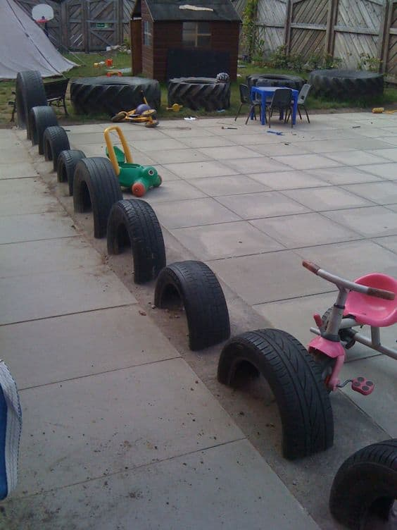 tyre edging ideas