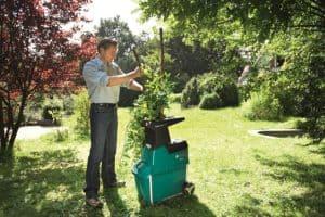 Bosch AXT 25 TC Quiet Garden Shredder in use