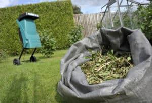 garden shredder saves a lot of space