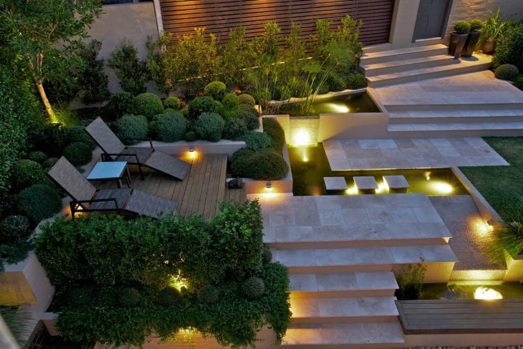 contemporary garden lighting