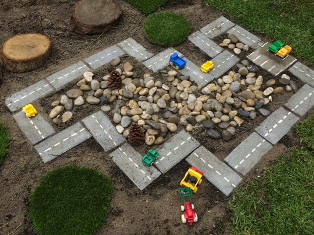 brick garden racetrack