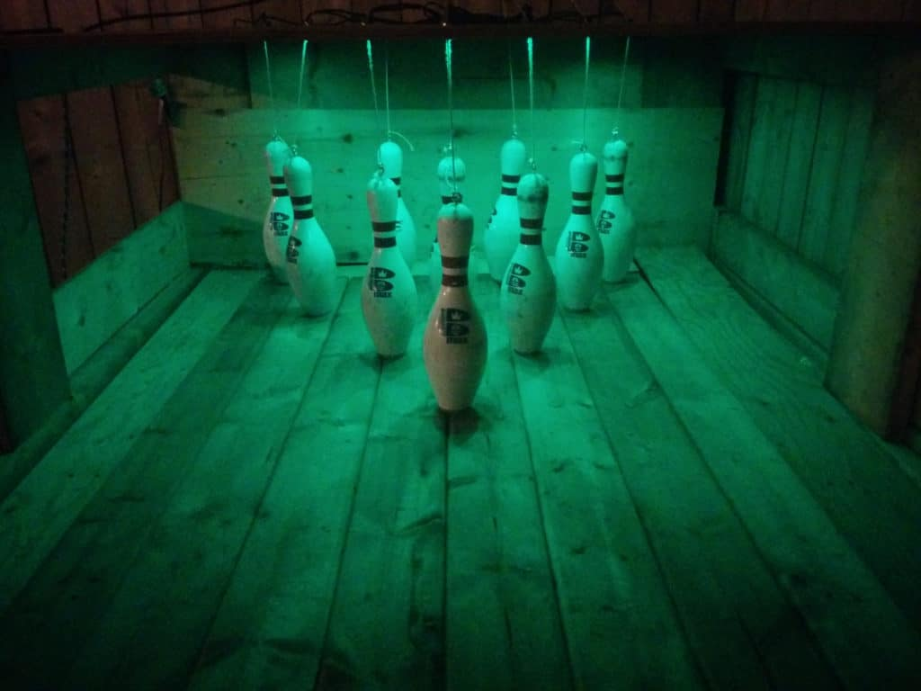 diy back garden bowling alley 10