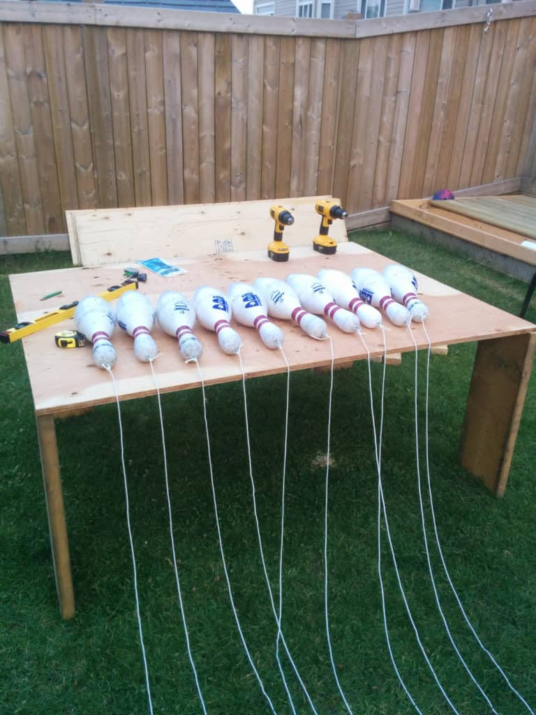 diy back garden bowling alley 4