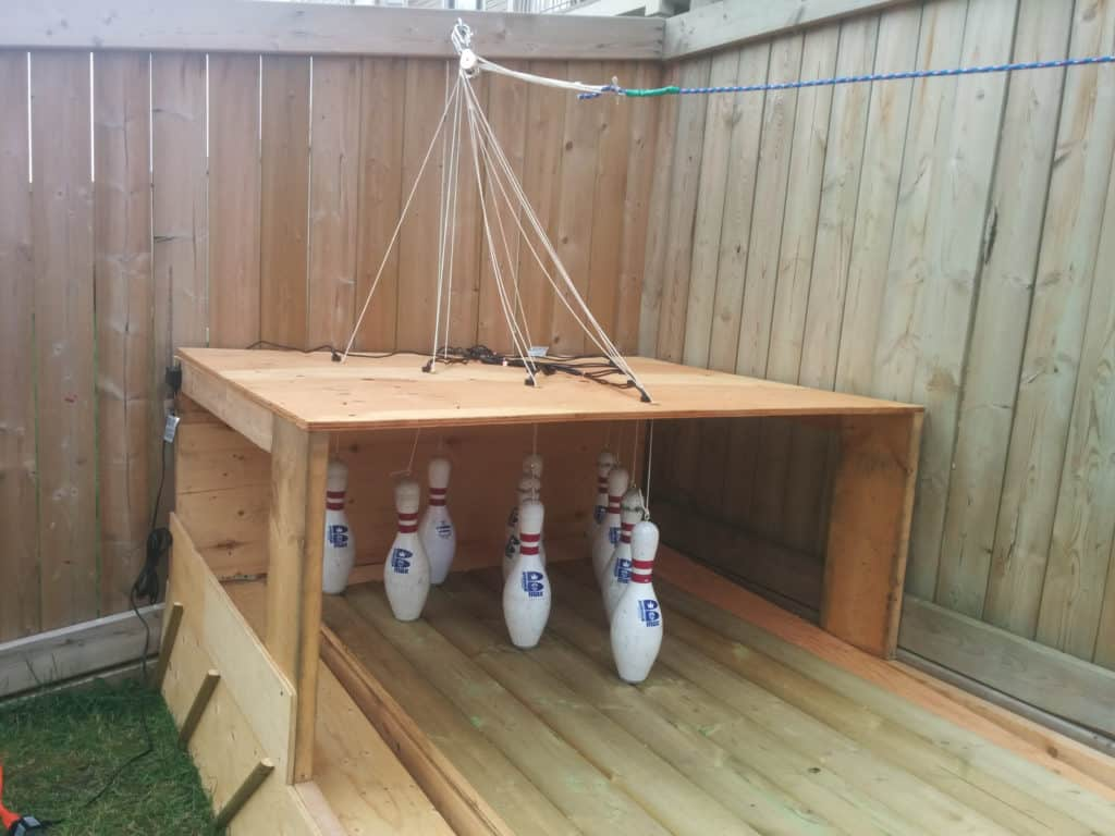 diy back garden bowling alley 7