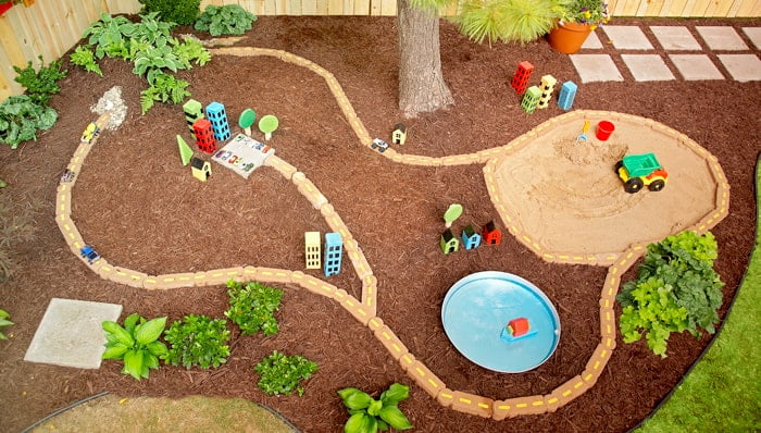 diy garden racetrack