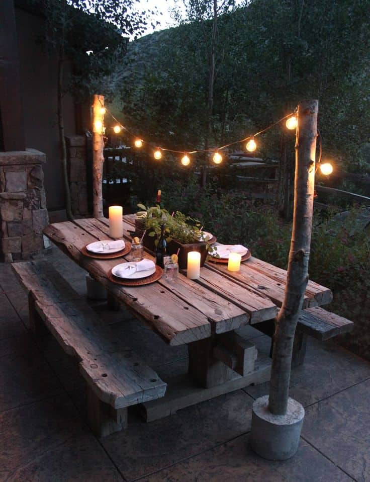 diy outdoor wooden dining table