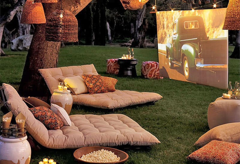 diy garden cinema