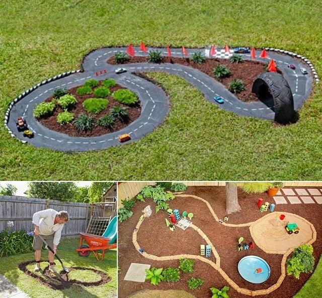 diy garden race track