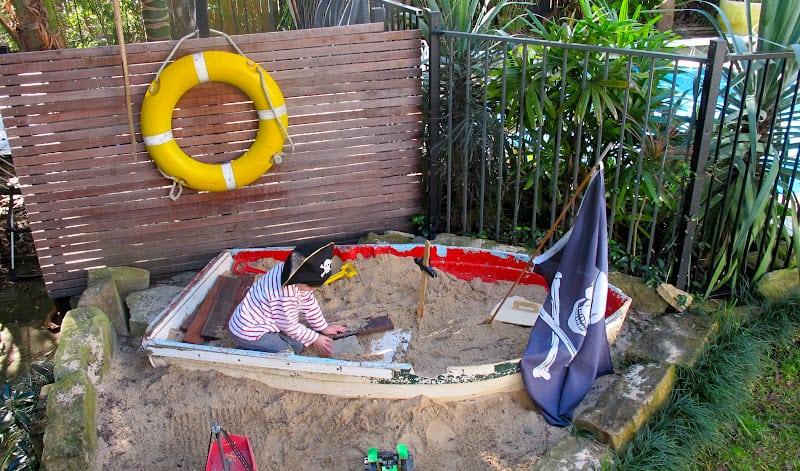 rowing boat sandpit