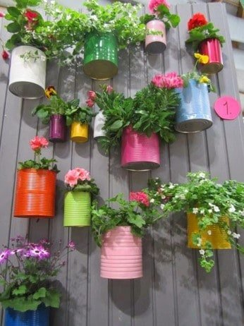 colourful wall pots