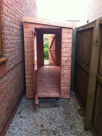 double entrance shed