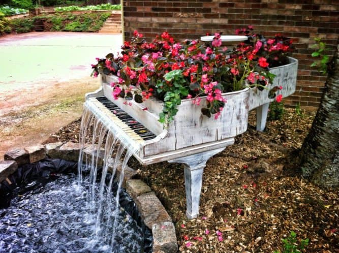 piano waterfall