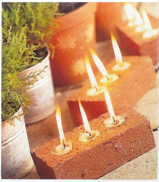 brick tea lights