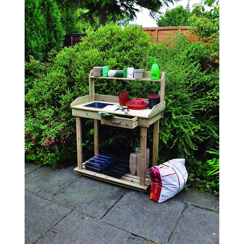 Fabulous 8 Best Wooden Potting Benches 2019 Edition Diy Garden Ibusinesslaw Wood Chair Design Ideas Ibusinesslaworg