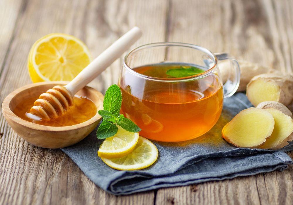 mint-ginger-lemon-honey-tea