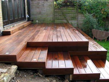 1. Decking for sloped garden
