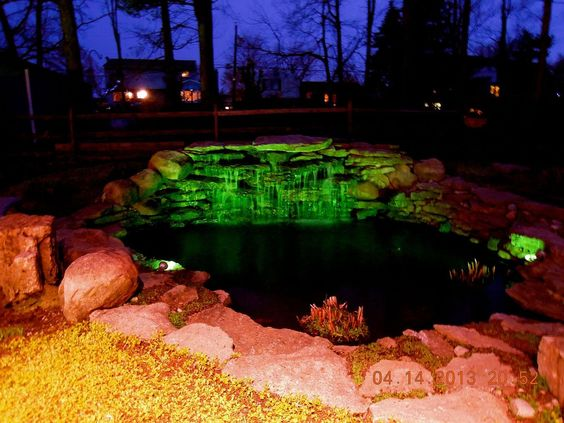 18. Garden Pond Lighting