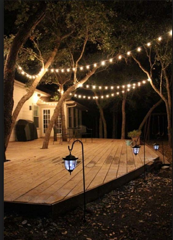 20. Garden Deck Lighting