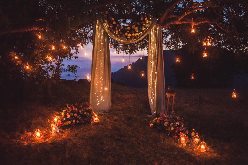 21. Garden Wedding Lights