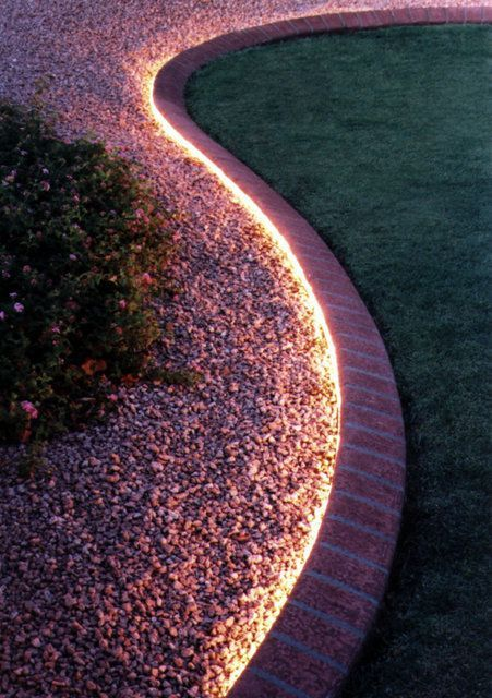 25. Garden Border Lighting