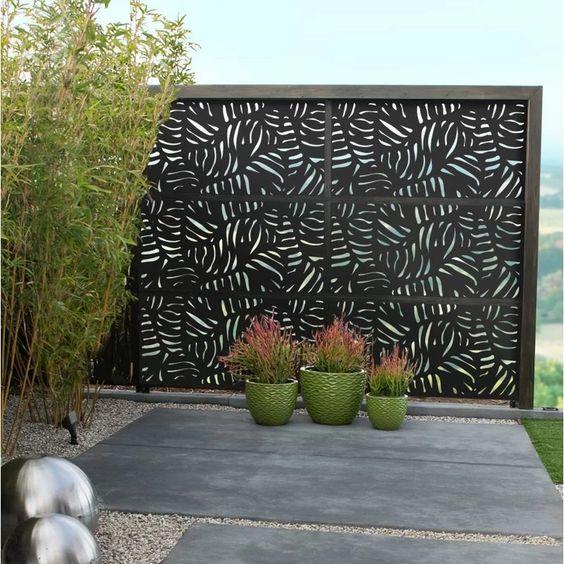 40. Metal Garden Fence